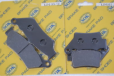 FRONT REAR BRAKE PADS fits BMW C1 125 200, 99-03 C1 125, 2001 C1 200