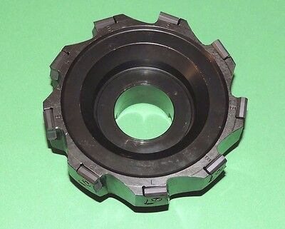 """ISCAR TANGMILL 5"""" Indexable Face Mill w/ New Inserts (F90LN D5.00-09-1.50-R-N15)"""