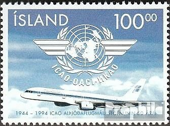 Iceland 815 fine used / cancelled 1994 Civil Aviation