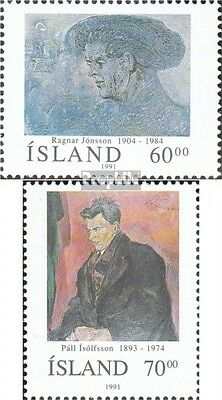 Iceland 751-752 fine used / cancelled 1991 Personalities