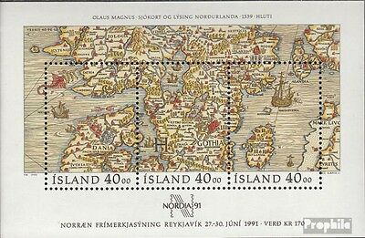 Iceland block11 fine used / cancelled 1990 NORDIA