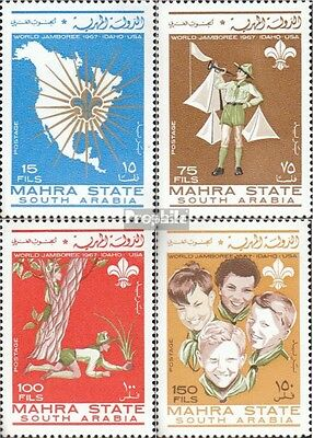 Aden - Mahra State 12A-15A fine used / cancelled 1967 World jamboree