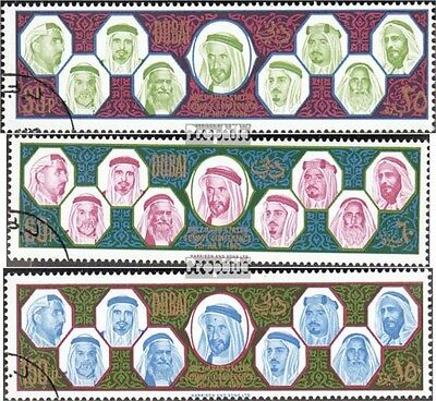 Dubai 208-210 fine used / cancelled 1966 States of persian Golfes