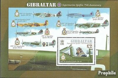 Gibraltar block103 mint never hinged mnh 2011 Spitfire Aircraft