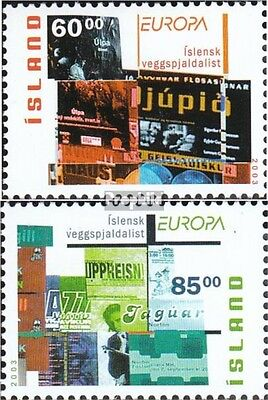 Iceland 1038A-1039A mint never hinged mnh 2003 poster art