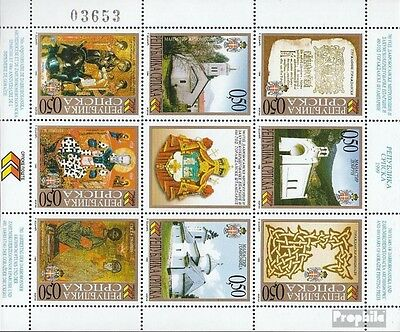 Serbian Republic bos.-h 127-134 Sheetlet mint never hinged mnh 1999 Archdiocese