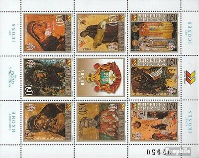 Serbian Republic bos.-h 143-150 Sheetlet mint never hinged mnh 1999 Art: Icons