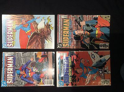 "SUPERMAN : ""The SECRET YEARS"" : COMPLETE 4 part SERIES by ROZAKIS & SWAN.DC.1985"