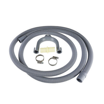 Universal Washing Machine Dishwasher Drain Waste Hose Extension Pipe Kit 2.5M