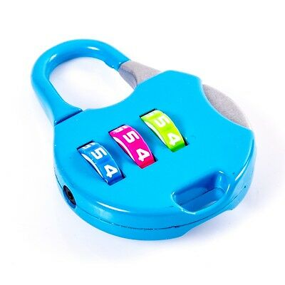Small 3 Digit Combination Padlock Lock Security Travel Luggage Suitcase Baggage