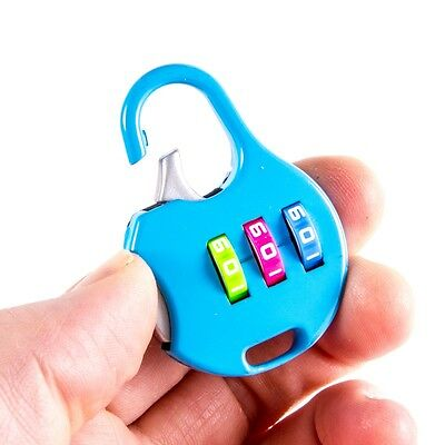 MINI 3 DIAL NUMBER COMBINATION PADLOCK Lock Gym Locker Sheds Toolbox Bike Small