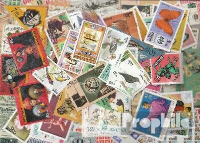 bhutan 100 different stamps