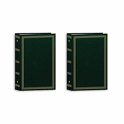 Pioneer Photo Albums Pocket 3-RING Album 4X6 3-UP Photo Hunter Green - Two Pack