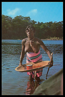 SOUTH AMERICA NUDE - FRENCH GUIANA - Bosch Woman color postcard