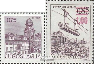 Yugoslavia 1672,1673 (complete issue) unmounted mint / never hinged 1976 Postage