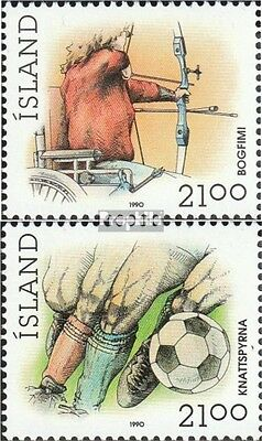 Iceland 728-729 (complete issue) unmounted mint / never hinged 1990 Sports
