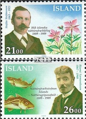 Iceland 710-711 (complete issue) used 1989 Natural History