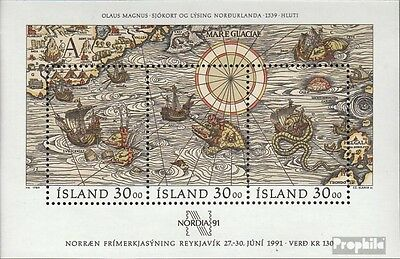 Iceland block10 (complete issue) used 1989 NORDIA