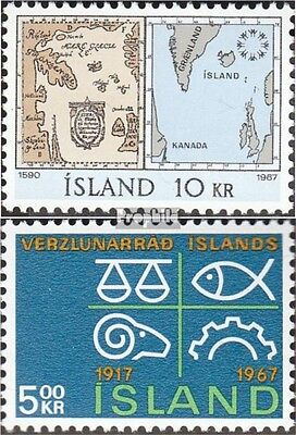 Iceland 411,412 (complete issue) used 1967 special stamps