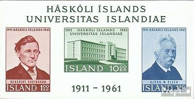 Iceland block3 (complete issue) unmounted mint / never hinged 1961 50 years Univ