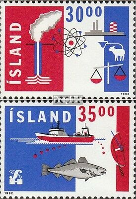 Iceland 766-767 (complete issue) unmounted mint / never hinged 1992 Export
