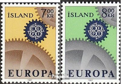 Iceland 409-410 (complete issue) unmounted mint / never hinged 1967 Europe