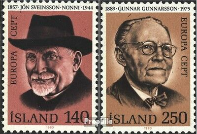 Iceland 552-553 (complete issue) unmounted mint / never hinged 1980 Personalitie