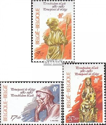 Belgium 2039-2041 (complete issue) used 1980 1000 years prince