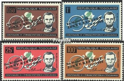 Togo 407-410 (complete issue) unmounted mint / never hinged 1964 100 years Repea