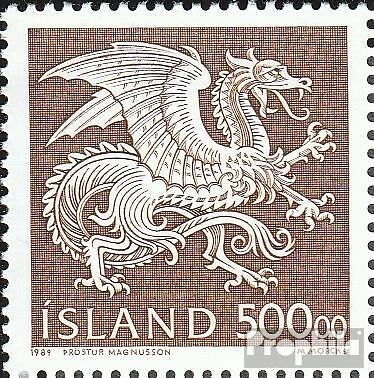 Iceland 703 (complete issue) used 1989 State Emblem
