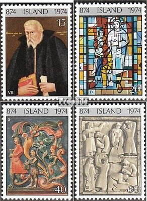 Iceland 494-497 (complete issue) used 1974 Colonization