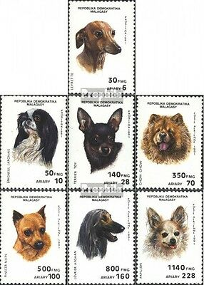 Madagascar 1299-1305 (complete issue) unmounted mint / never hinged 1991 Dogs