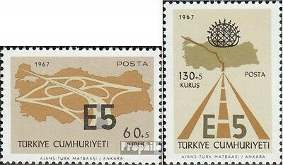 Turkey 2058-2059 (complete issue) unmounted mint / never hinged 1967 Europastraß