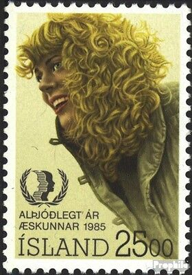 Iceland 635 (complete issue) unmounted mint / never hinged 1985 Year the Youth