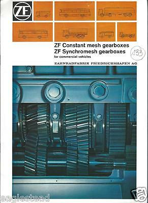 Truck Brochure - ZF Constant Mesh Synchromesh Gearbox - 2 items 1973/74 (T1422)