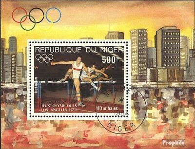 Niger block41 (complete issue) used 1984 olympic. Summer ´84, L