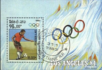 Laos block92 (complete issue) used 1983 Olympics Summer 1984