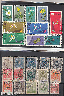 Polonia Poland canceled Postage stamps ab Classic Los Po 9