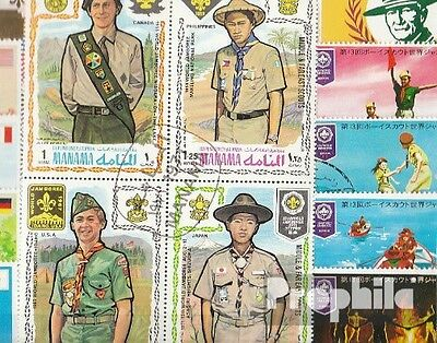 Motives 50 different Scouts stamps