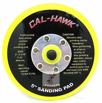 "(Qty-2) 5"" DA PSA Sanding Backup backing pad for stickit  Sanders New"