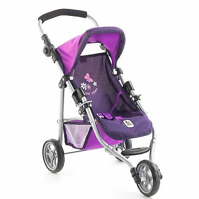 Bayer Chic 2000 Puppen Jogging-Buggy Lola Pflaume NEU