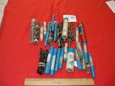 Mixed Lot of 65 Round Shank Drill Bits Most Counterbore