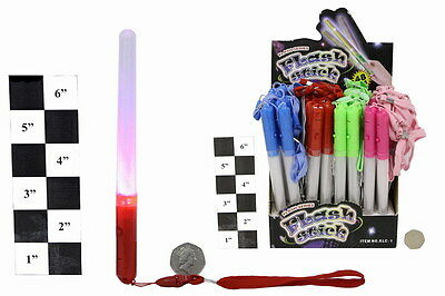 Led Lightstick Glitter Glowstick Multi Flash Wand Clubbercise Rave Xmas Party