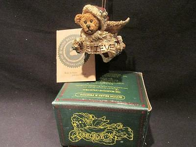 Edmund Believe Boyds Bearstone Ornament with Box & COA #2505