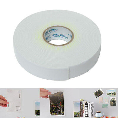 5m White Double Sided Strong Sticky Adhesive Foam Tape Mount Fixing Pad Home Car