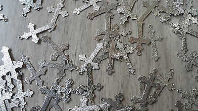 "Machine Engraved Cross Pendant 1"" by 3/4"" (pkg 72) small silver 2870"