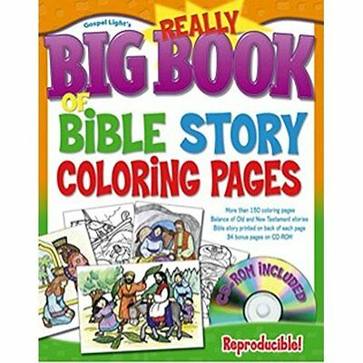 Really Big Book of Bible Story Coloring Pages with CDRO - Paperback NEW - 2007-0