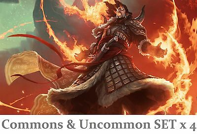 FATE REFORGED MtG Magic the Gathering UNCOMMON SET x 4 + COMMON (500 Random)