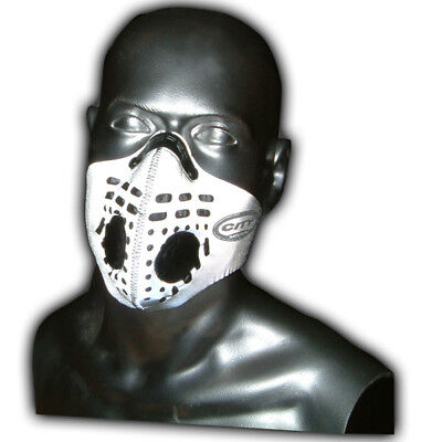 Respro City Anti-Pollution Bike Cycle Face Mask Hi-Viz Reflective Silver Large