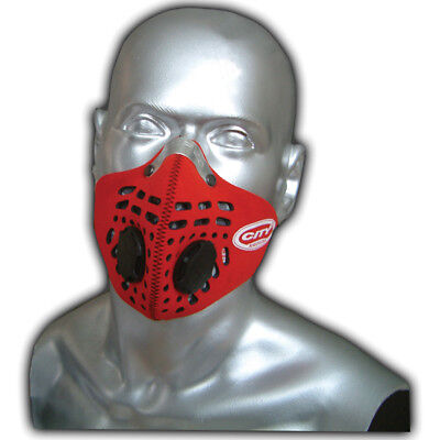Respro City Anti-Pollution Bicycle Bike Cycle Cycling Face Mask Red Medium